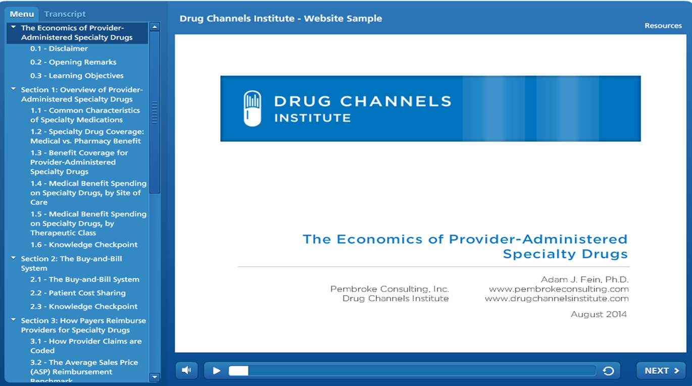 Economics of Provider-Administered Specialty Drugs